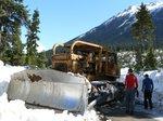 Blocked by a bulldozer