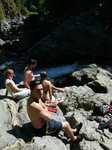 Sooke Potholes with some friends from the wedding - Pascal, Karina and Matt