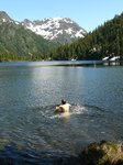 Jump in, jump out type of swim - Circle Lake