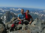 Golden Hinde is the highest mountain on Vancouver Island - 2200 meters.