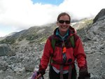 """Up at Wedgemount Lake in good """"light pack"""" time - 2:10 from the parking lot."""
