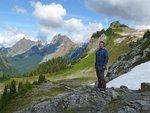 L to R: Canadian Border Peak, American Border Peak, Yellow Aster Butte