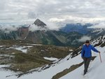 We crossed the top of a glacier