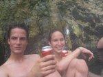 Jul and Lisa at the hot springs
