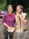 Picking Chanterelles near Squamish