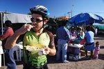 Tamales for breakfast in the market in Loreto