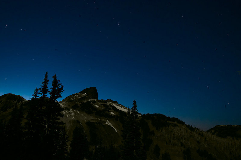 The Black Tusk with the Big Dipper at night. Photo: Gavin Jones