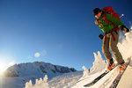 Phil skiing at Phelix Creek. Photo: Ran Zhang