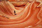 Erika walking the wave, Utah - Coyote butts. Photo: Michael Kupa