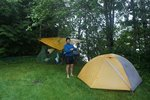 First night - in a rest area along the Skeena, in the rain