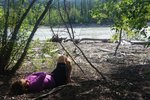 Lunch and nap near the Stikine River, before a climb to another pass