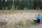 We found the VOC sign that was made by the group who went to do a ski traverse in Alaska in May