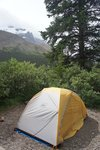 Camping at the Columbia Icefields campground