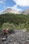 First day of a seven day hiking trip on the Brazeau Loop (Jasper National Park)