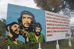 Signs with quotes of Che Guevara were everywhere