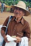 Cuban cigars: a plastic bag salesperson at the market