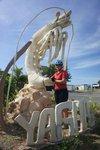 Shrimp statue