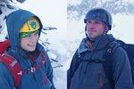 Avery and Doris. Avery was sporting his new combat helmet.