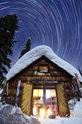 Stars wheel above the Empire Cabin