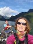 Paddling Pitt Lake in sunny October