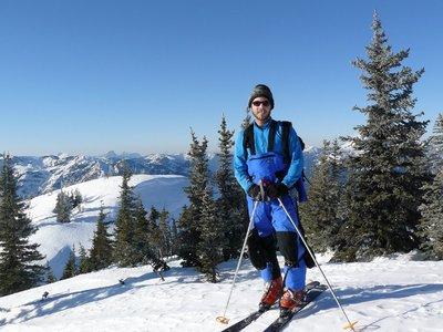 On the summit of Silverdaisy Mtn.