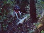 We scramble back to the trail.