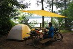 Toasted cheese sandwiches for lunch on Lopez Island