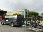 Our bikes loaded up on the shuttle, necessary for getting through an annoying tunnel on the way back from Tsawwassen