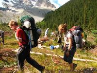Crew clearing avalanche debris