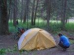 Camp along Douglas Lake Rd, near the (first) Salmon River Bridge