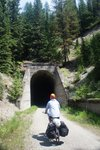 A tunnel on the way to the Trail of the Hiawatha