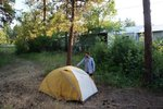 Camping near the smoke house