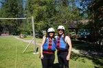 We took an inflatable kayak whitewater trip in Glacier Park