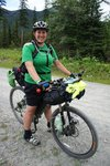 Christine, cycling from Banff to the Mexican border, along the Great Divide Trail, go girl!