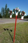 Fatal accidents along Montana's Highways are marked with a cross. Three people died here.