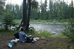Camping by Yaak River