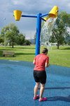 The splash park in Creston, it was perfect timing for us, just after cycling a hot sweaty hill