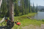 A nap at Bridal Lake, at Kootenay Pass