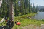 A nap at Bridal Lake, at Kootenay Pass