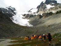 Camp and Anniversary Glacier