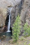 A surprising waterfall on the trail