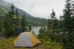 Our camp by Punch Bowl Lake