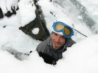 Josh made it up out of the crevasse