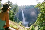 Kaja at Helmiken Falls