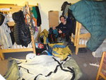 A dirtbag finds a hostel to dry his life's posessions