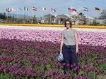Maya with Tulips