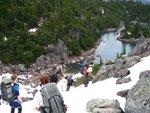 Descending to Garibaldi Lake