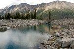 Nice blue lake below the north face of Elusive Peak