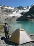 Camping at Wedgemount Lake