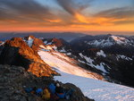 Sunset in the Tantalus Range. Photo:Clemens